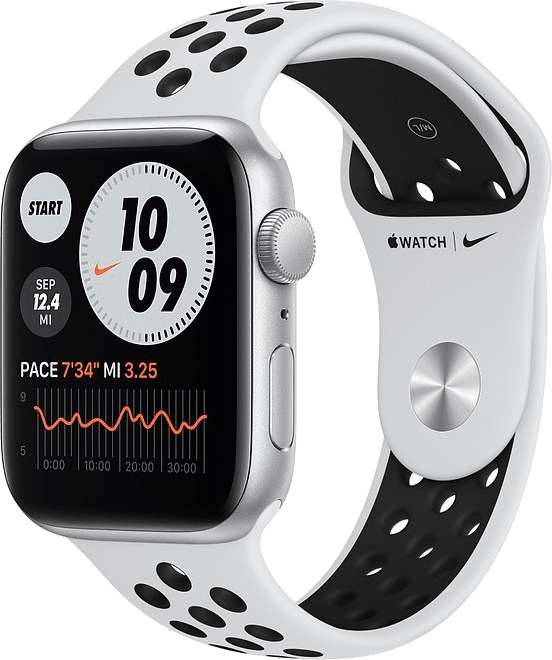 Platin / Schwarz Apple Watch Nike SE GPS, 40mm.1