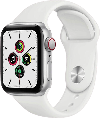 Weiß Apple Watch SE GPS, 44mm.1