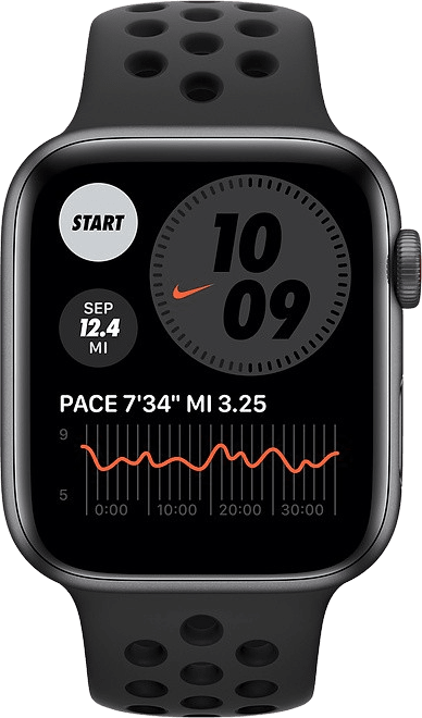 Anthrazit / schwarz Apple Watch Nike SE GPS + Cellular, 44mm.2