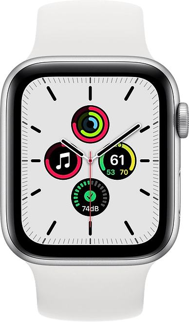 White Apple Watch SE GPS + Cellular, 44mm.2