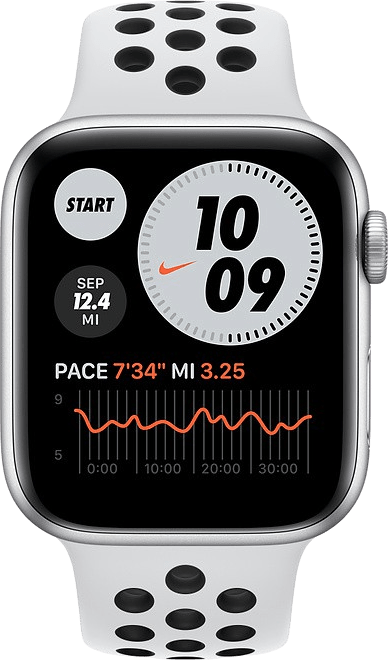 Platin / Schwarz Apple Watch Nike SE GPS, 40mm.2