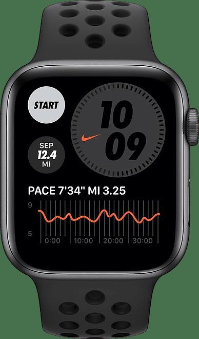 Anthrazit / schwarz Apple Watch Nike SE GPS+Cellular, 40 mm Aluminiumgehäuse, Sportarmband.2