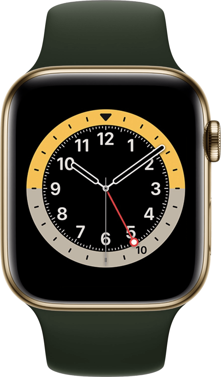 Cyprus green Apple Watch Series 6 GPS + Cellular , 44mm Stainless steel case, Sport band.2