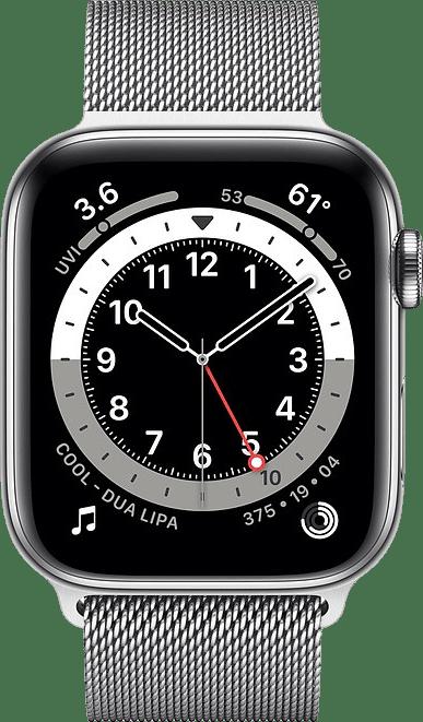 Silber Apple Watch Series 6 GPS + Cellular , 40mm.2