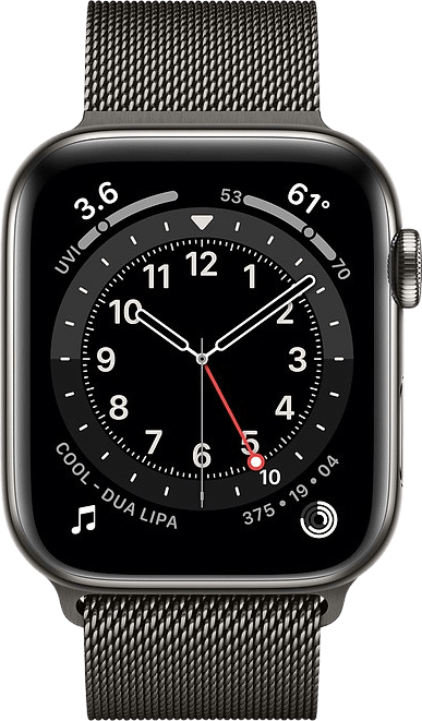Graphit Apple Watch Series 6 GPS + Cellular , 40-mm-Edelstahlgehäuse, Milanaise Loop.2