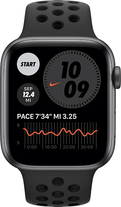 Anthracite/black Apple Watch Nike Series 6 GPS, 40mm Aluminium case, Sport band.2