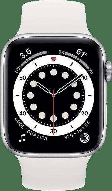 White Apple Watch Series 6 GPS + Cellular , 40mm Aluminium case, Sport band.2