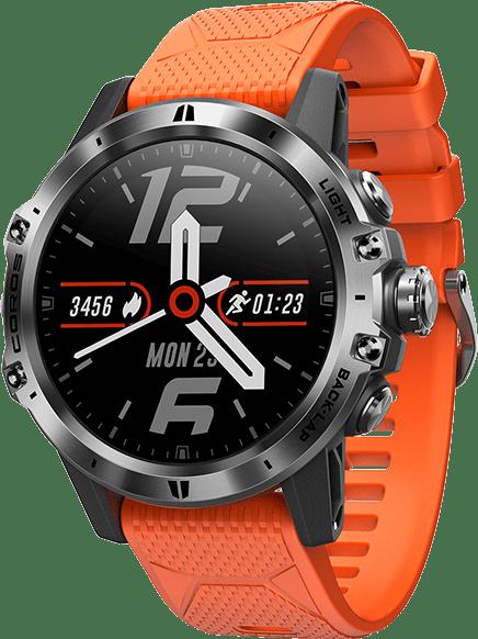 Oranje & zwart Coros Vertix GPS Sports watch.1