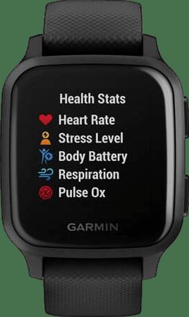 Black Garmin Venu Sq Music GPS Sports watch.3