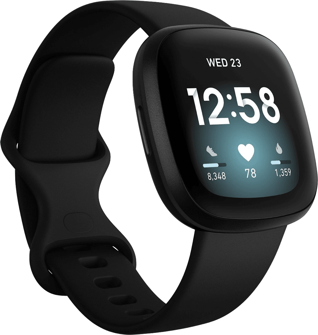 Black Fitbit Versa 3, 41mm.1