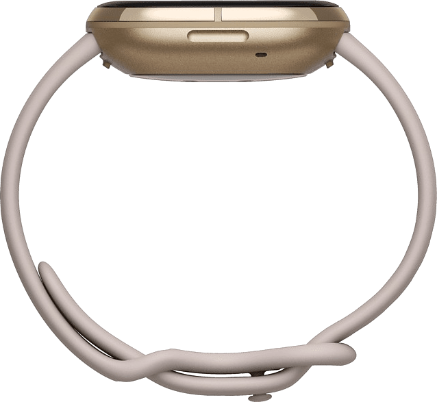 Lunar white & Soft gold Fitbit Sense Smartwatch.3