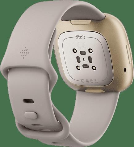 Lunar white & Soft gold Fitbit Sense Smartwatch.4