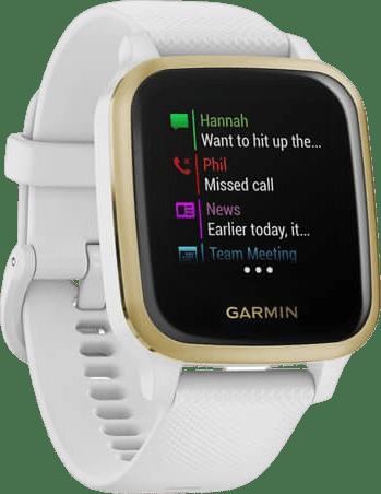 White Garmin Venu Sq GPS Sports watch.2