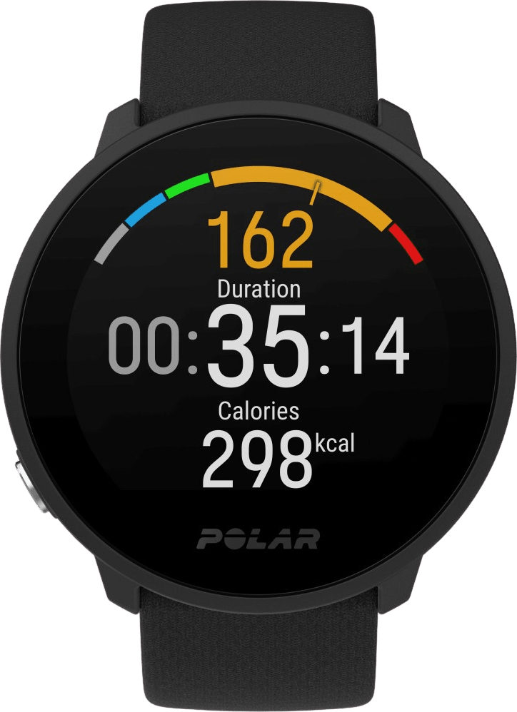 Black Polar Unite GPS Sports watch.2