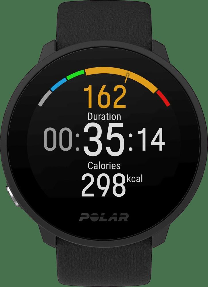 Schwarz Polar Unite GPS-Sportuhr.2