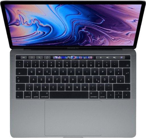"Space Grau Apple 13"" MacBook Pro Touch Bar (Mid 2019).2"