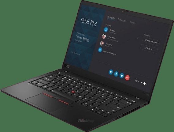 Black Lenovo ThinkPad X1 Carbon G8.2