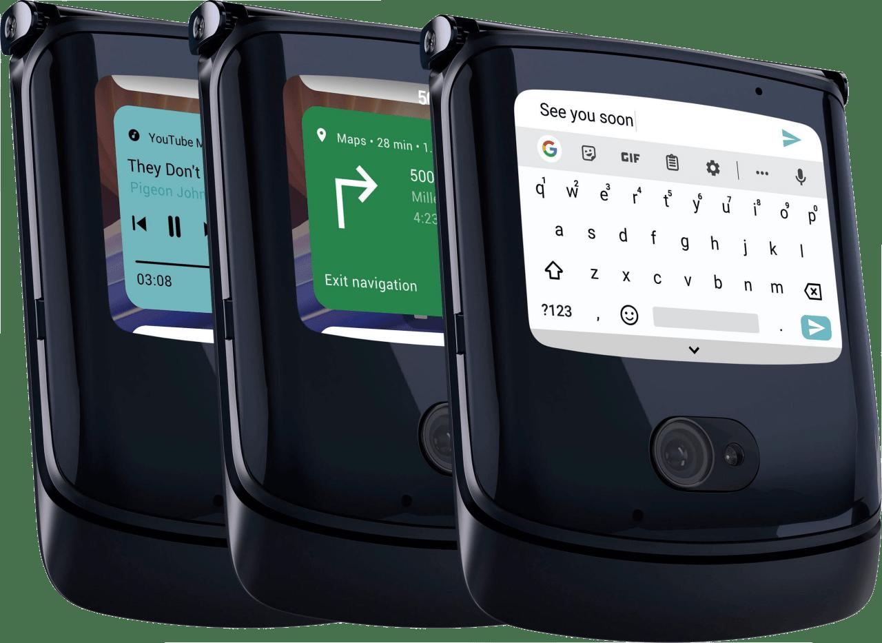 Schwarz Motorola Razr 256GB (2020).3