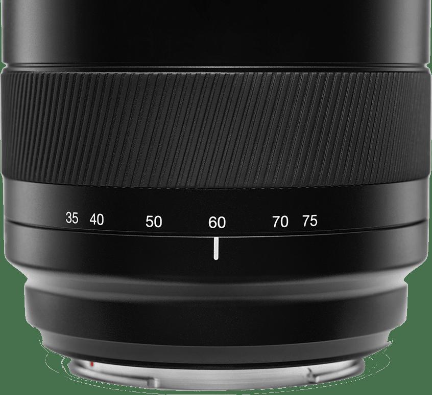 Schwarz Hasselblad XCD ƒ3.5-4.5 / 35-75mm zoom Objektiv.2