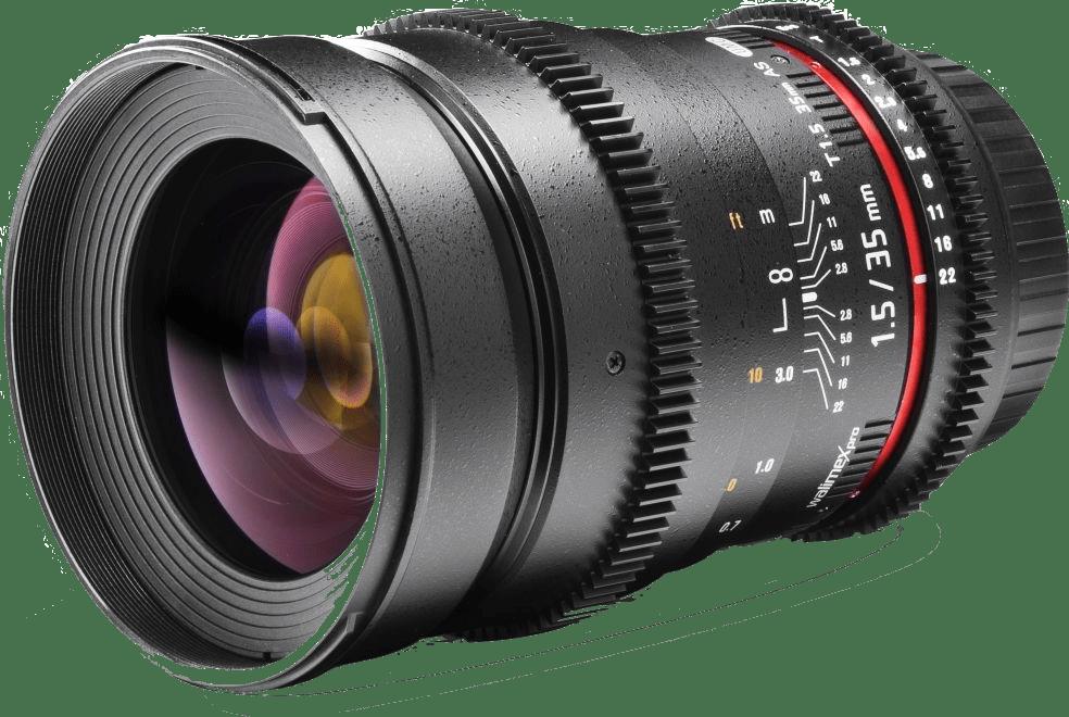Schwarz Walimex Pro 35 / 1.5 Video DSLR Canon EF Lens.1