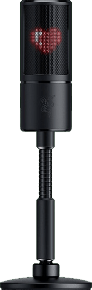 Black Razer Seiren Emote Gaming Microphone.4