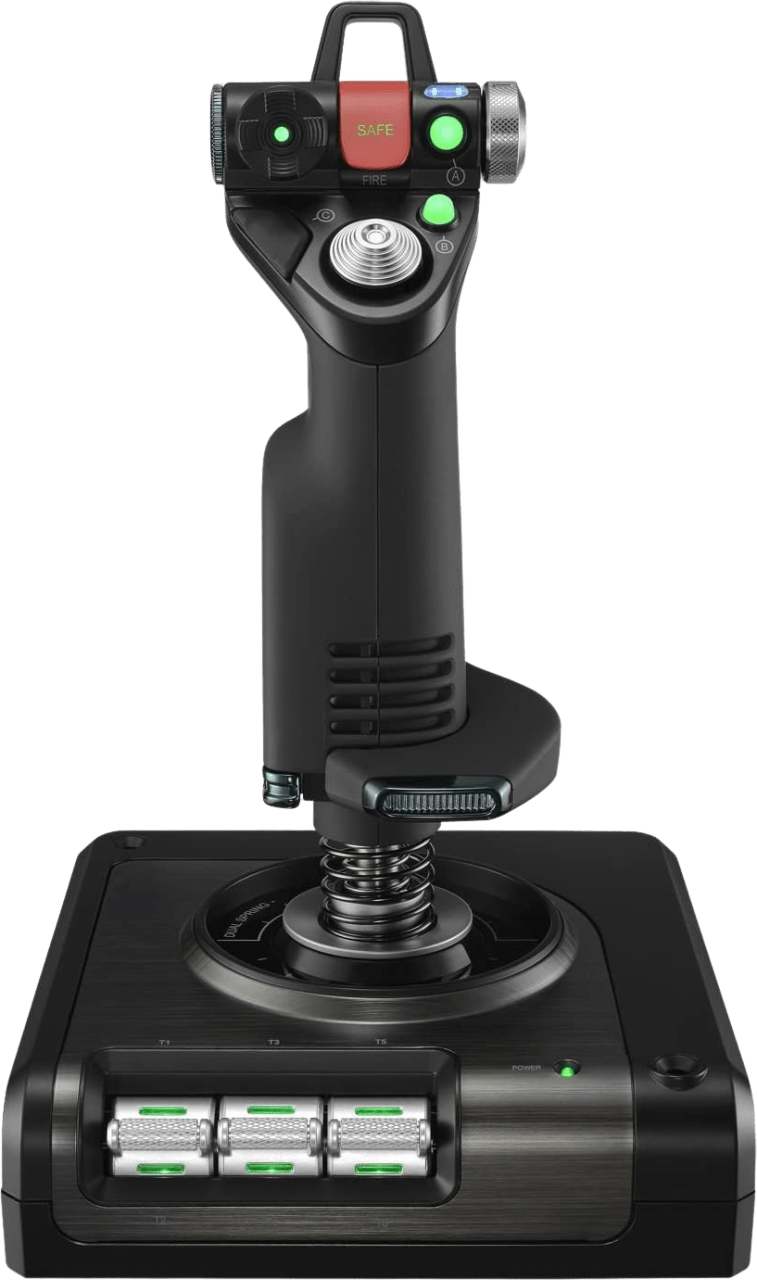 Negro Logitech Saitek X52 PRO Flight Simulator Controller.2