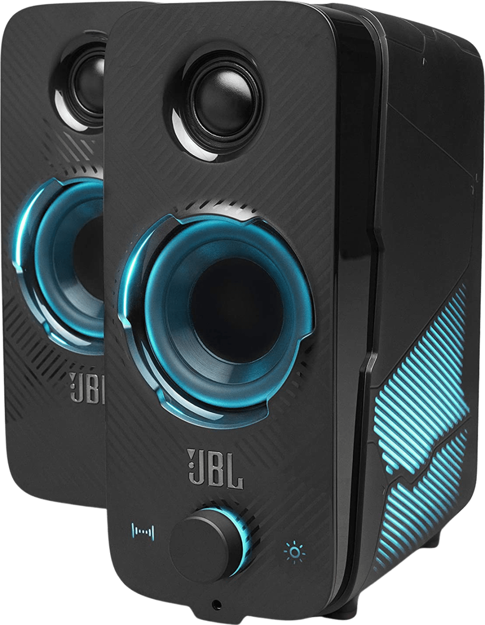 Black JBL Quantum Duo Gaming Speakers.1
