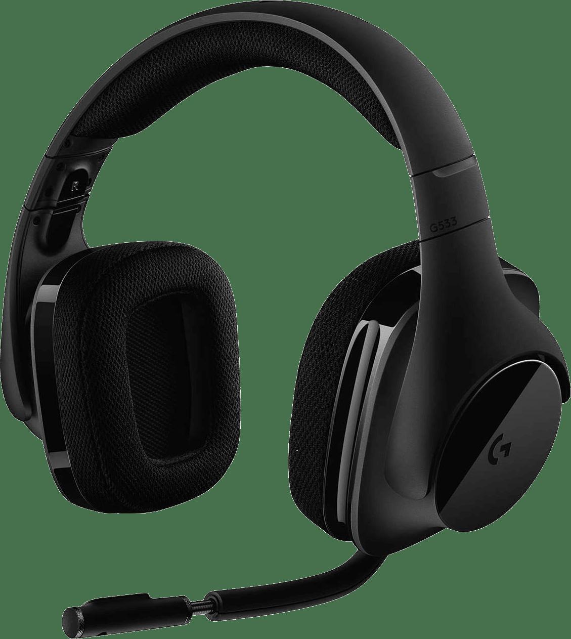 Black Logitech G533 Over-ear Gaming Headphones.1