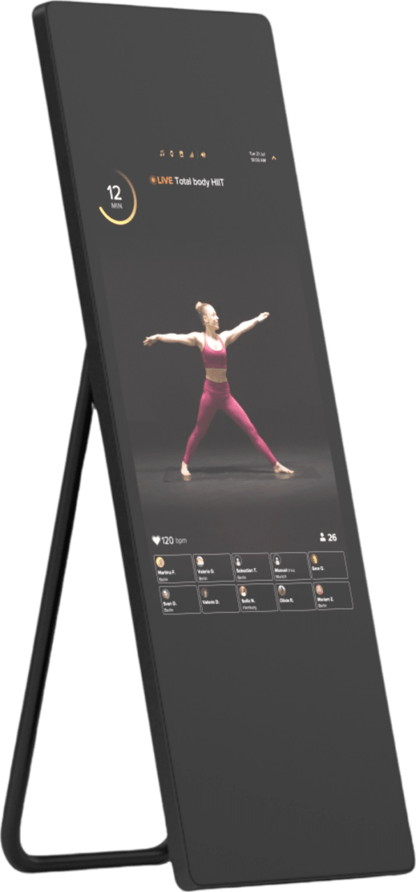 Black VAHA Fitness Mirror.1
