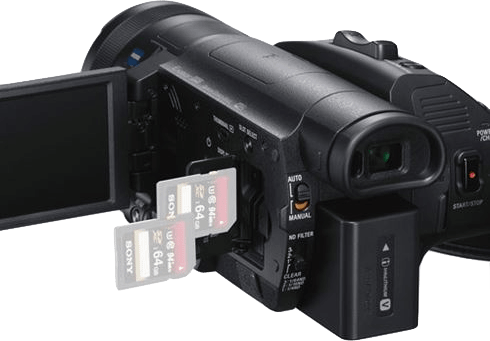 Black Sony FDR-AX700 Zeiss 4K Camcorder.4