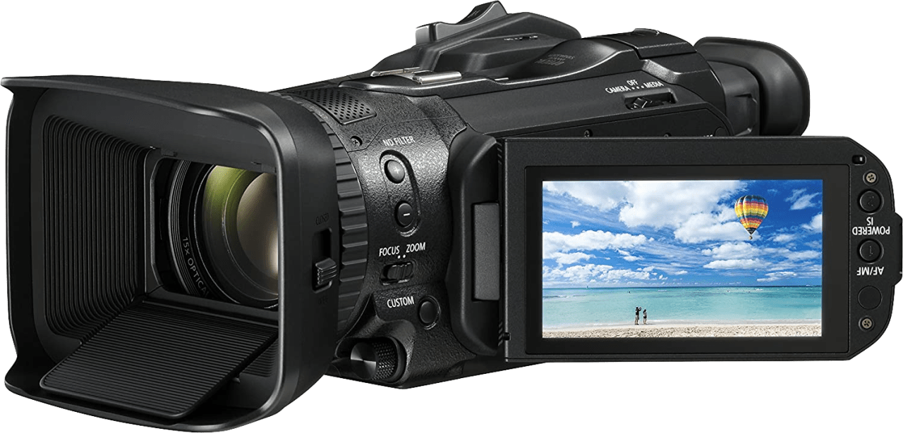 Zwart Canon Legria GX10 Professional Camcorder.3