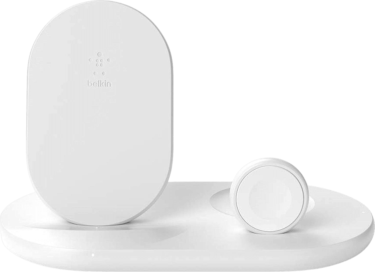 White Belkin 3-in-1 Charging Station.1