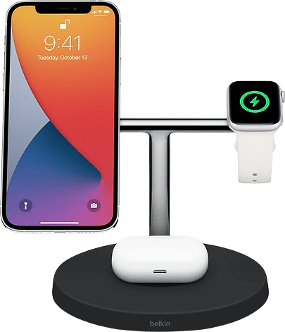 Black Belkin BOOST ↑ CHARGE PRO 3-in-1 Wireless Charger with MagSafe.1