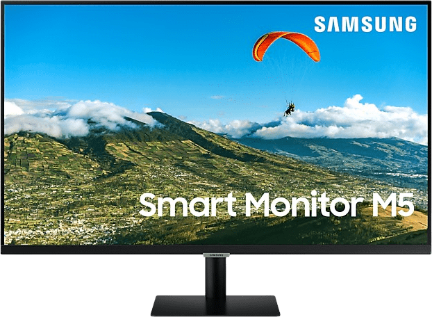 "Black  Samsung - 32"" M5 Smart Monitor LS32AM504NUXEN.1"