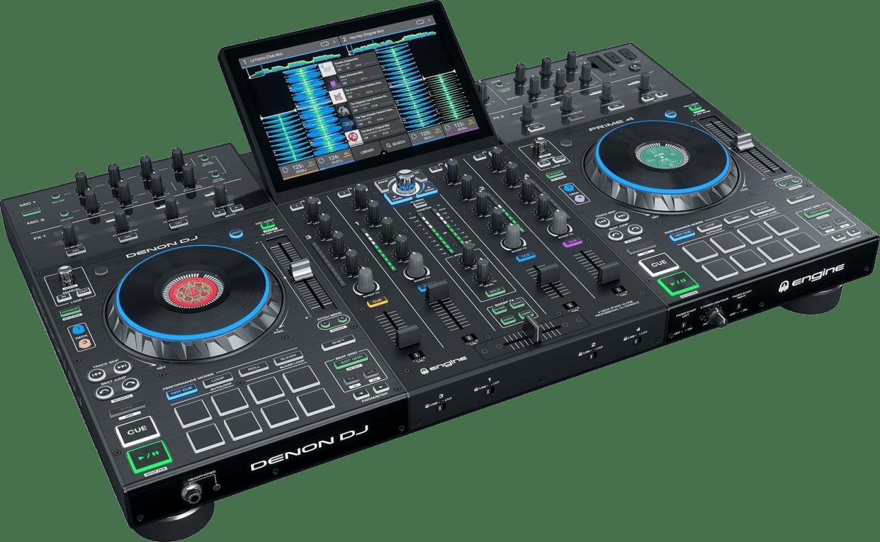 Schwarz Denon DJ Prime 4 All in one DJ controller.1