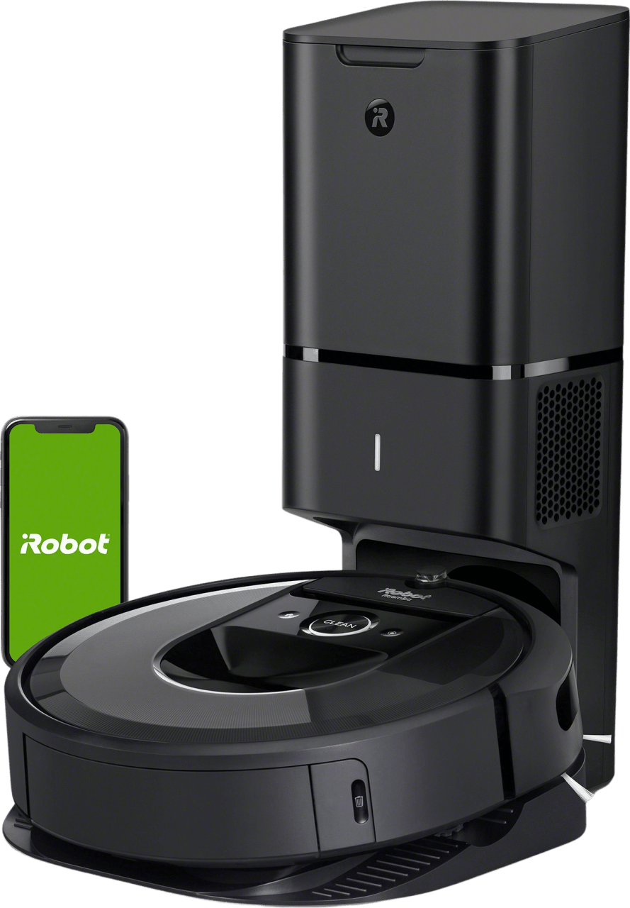 Black iRobot Roomba i7+ Vacuum Cleaner Robot with Automatic Dirt Disposal.1