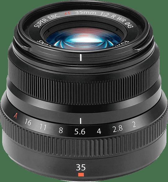 Schwarz Fujifilm Fujinon XF 35mm 1: 2 R WR Objektiv.1