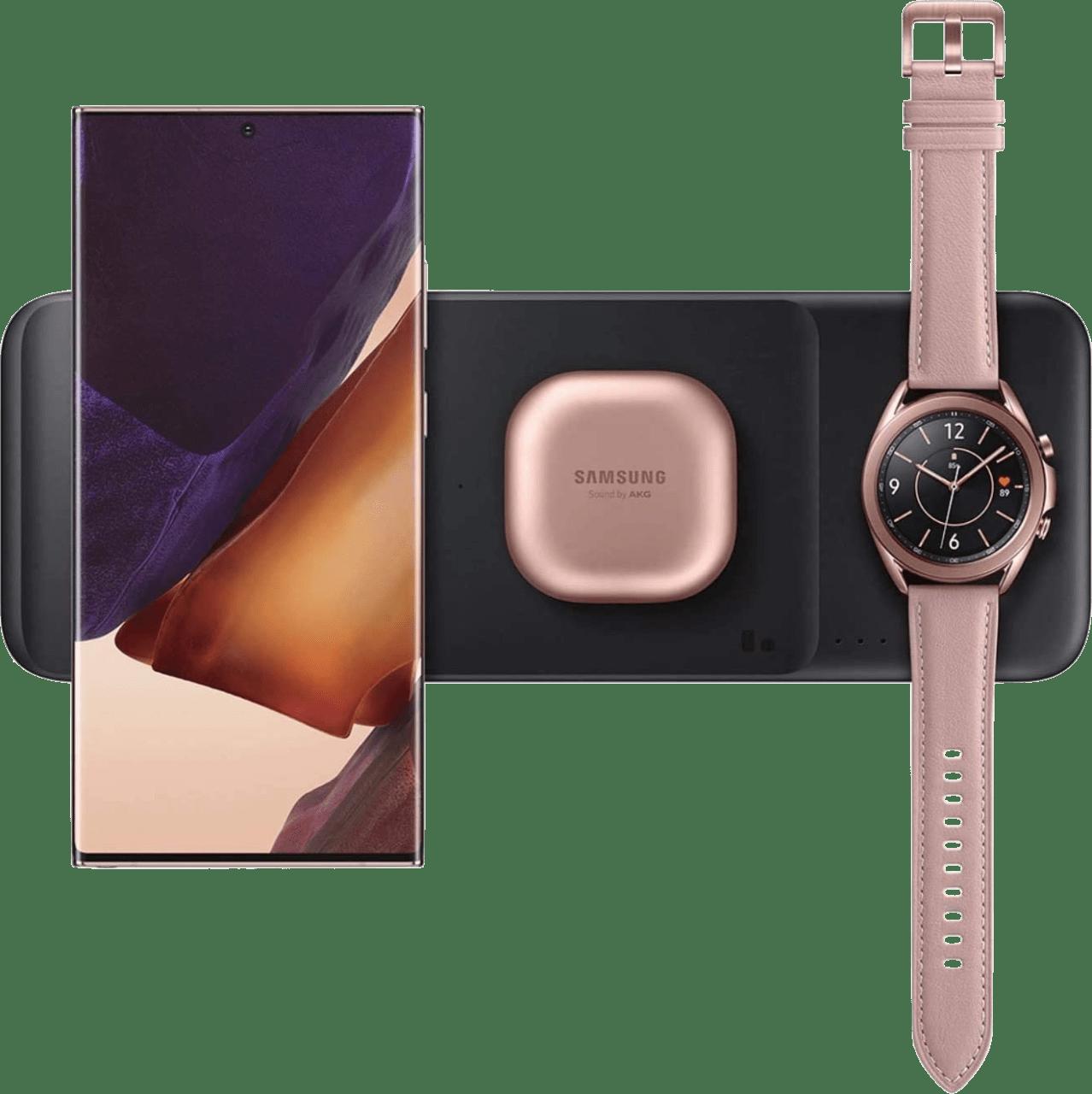 Black Samsung Wireless Charger Trio EP-P6300.1
