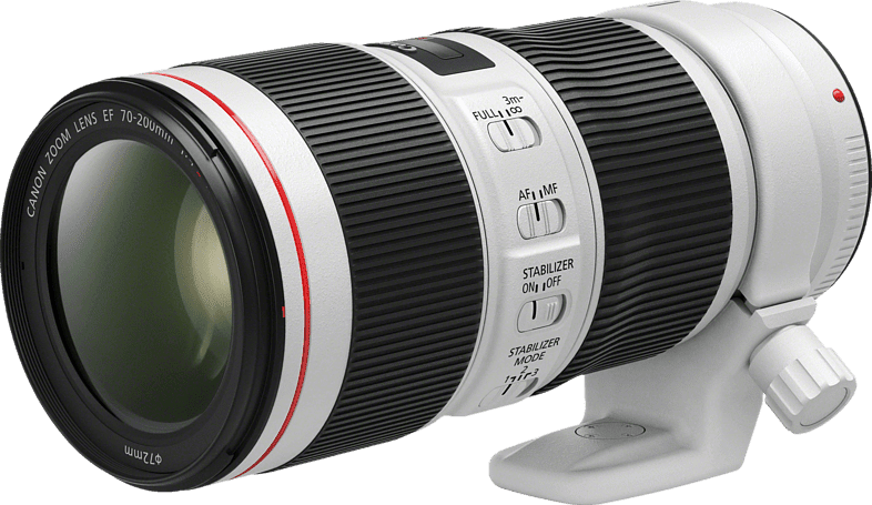 White CANON EF 70-200 mm f / 4L IS II Lens.1