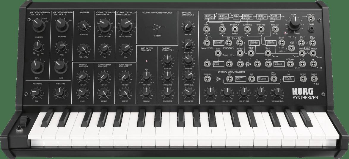 Schwarz Korg MS-20 mini Monophoner Analog-Synthesizer.1