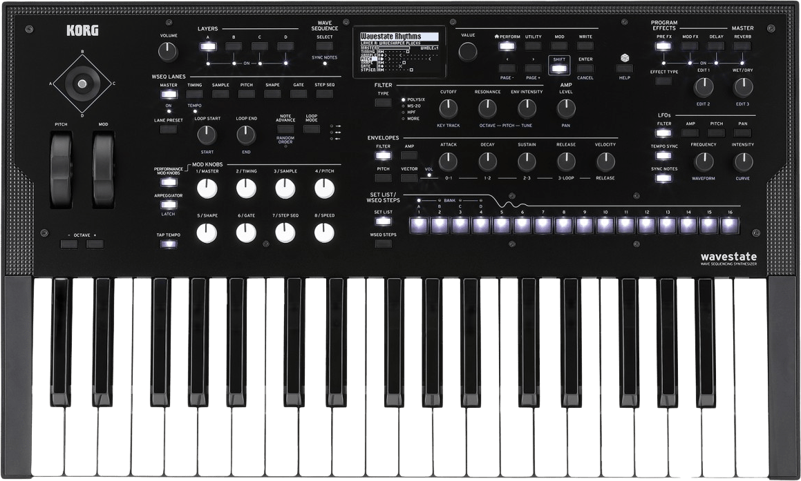 Black Korg Wavestate Digital Synthesizer.1