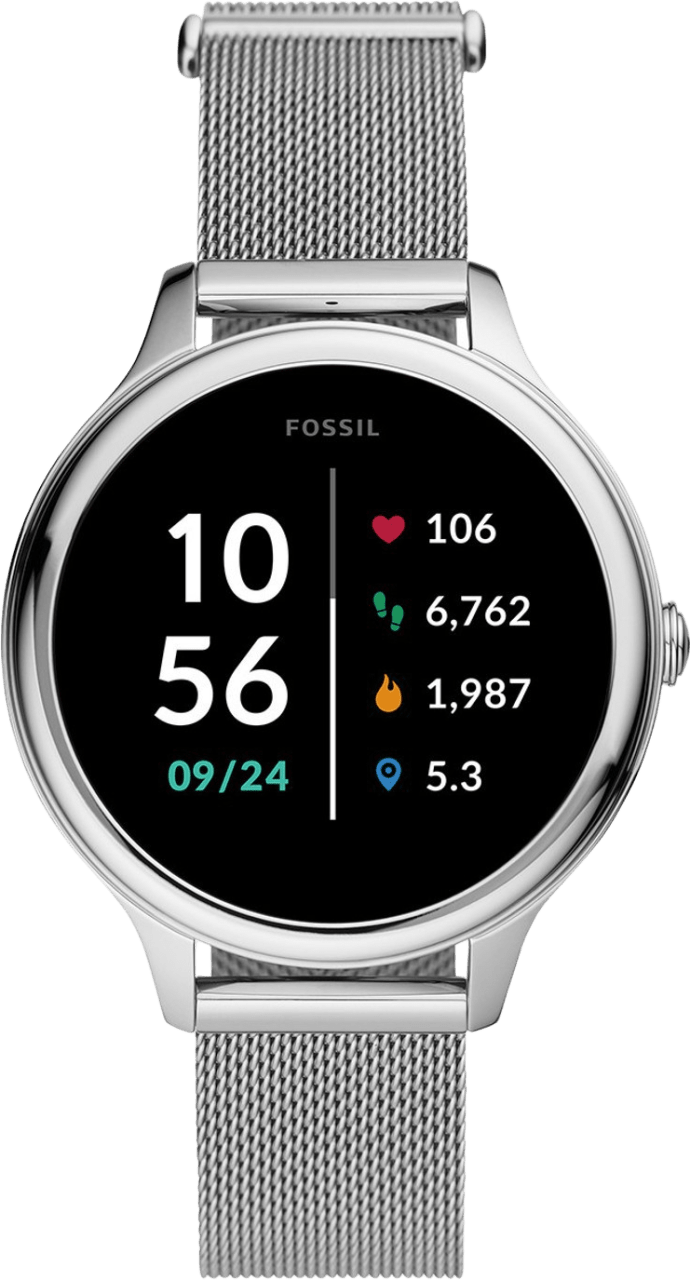 Silber Fossil Gen 5E Damen-Smartwatch, 42-mm-Edelstahlgehäuse.1