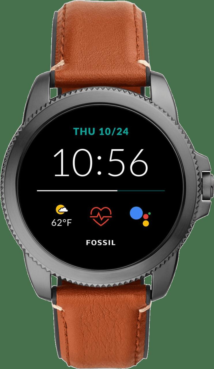 Braun Fossil Gen 5E Herren-Smartwatch, 44-mm-Edelstahlgehäuse.1