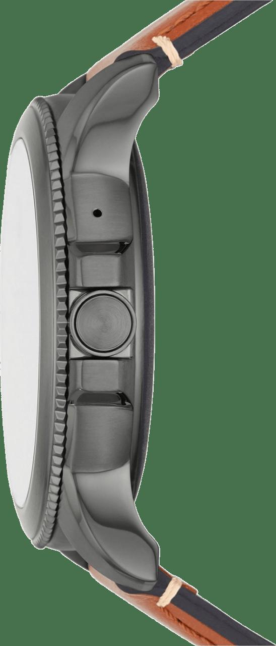 Braun Fossil Gen 5E Herren-Smartwatch, 44-mm-Edelstahlgehäuse.4