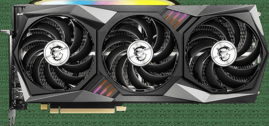Black MSI GeForce RTX™ 3060 Gaming X TRIO 12G Graphics Card.1