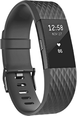 Black FitBit Charge 2 Special Edition, size L.1