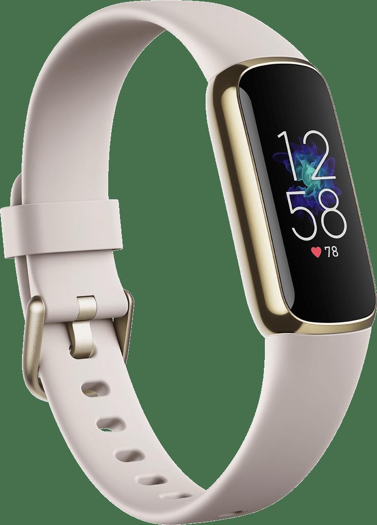 Weiches Gold / Mondweiß Fitbit Luxe Premium Aktivitäts-Tracker.1