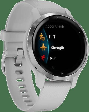 Light Gray / Silver Garmin Venu 2S Smartwatch, 40mm Fiber reinforced polymer case & sport band.3