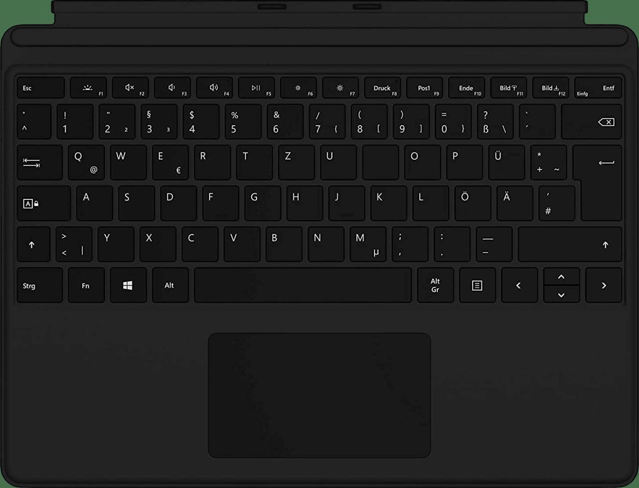 Black Microsoft Surface Pro X Keyboard - German.1