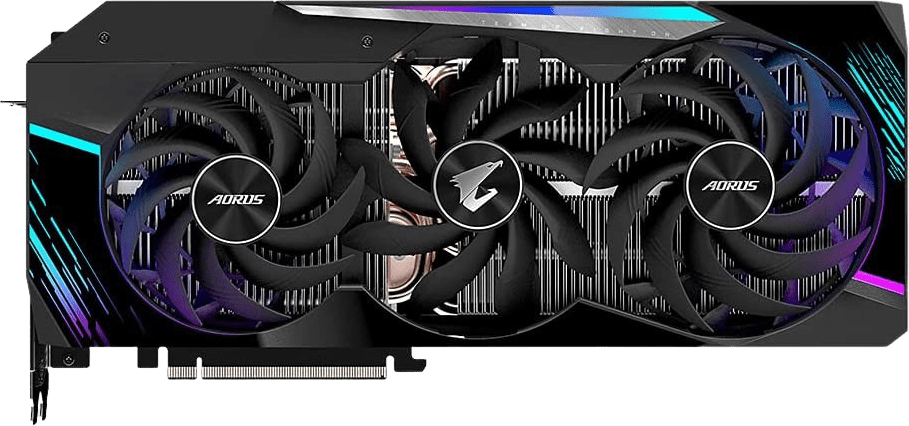 Schwarz GigaByte AORUS GeForce RTX™ 3080 Ti Master 12G Grafikkarte.1